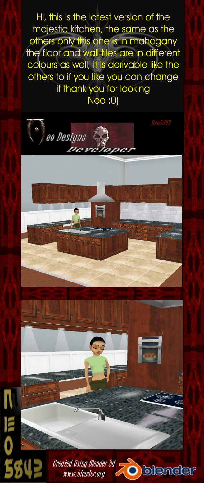 mahogany kitchen majesti by Neo5842 - imvuderivables imvux com